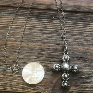 Jewelry - Sterling silver 925 necklace and cross pendant